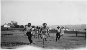 4-H_club_girls_play_at_4-H_camp_-_NARA_-_285854