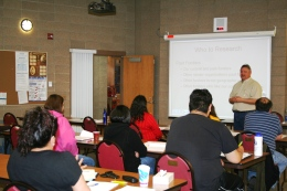 Students learning at a Grant-Writing Workshop
